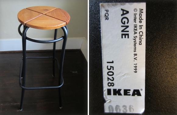 Pair of IKEA Bar Stools Necessity never made a good bargain Benjamin Franklin