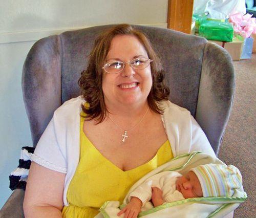 Grandma to be (Chari, my mom) and baby Merick