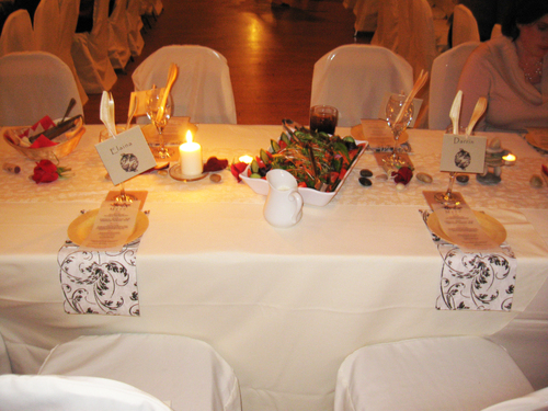 Seating for Elaina and Darrin