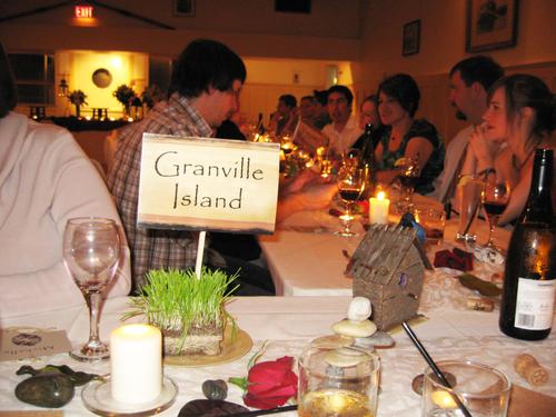 Granville Island Table Sign