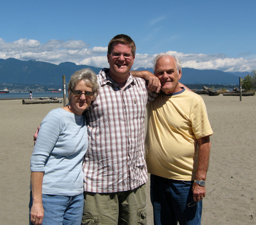 Darrin with his parents