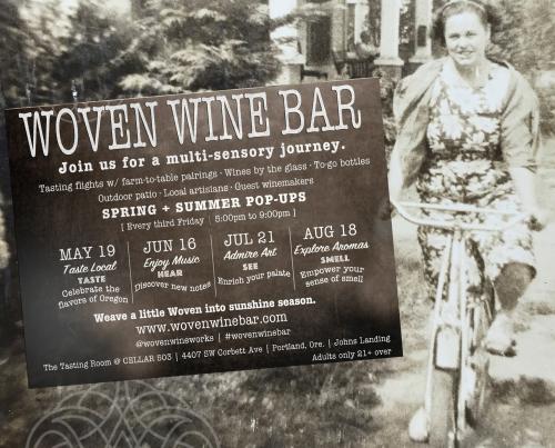 Social Media Woven Wine Bar